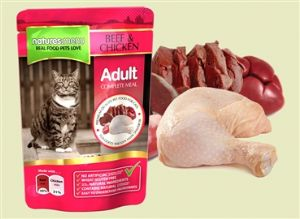Natures Menu Cat Beef - 12 x 100g Pouches